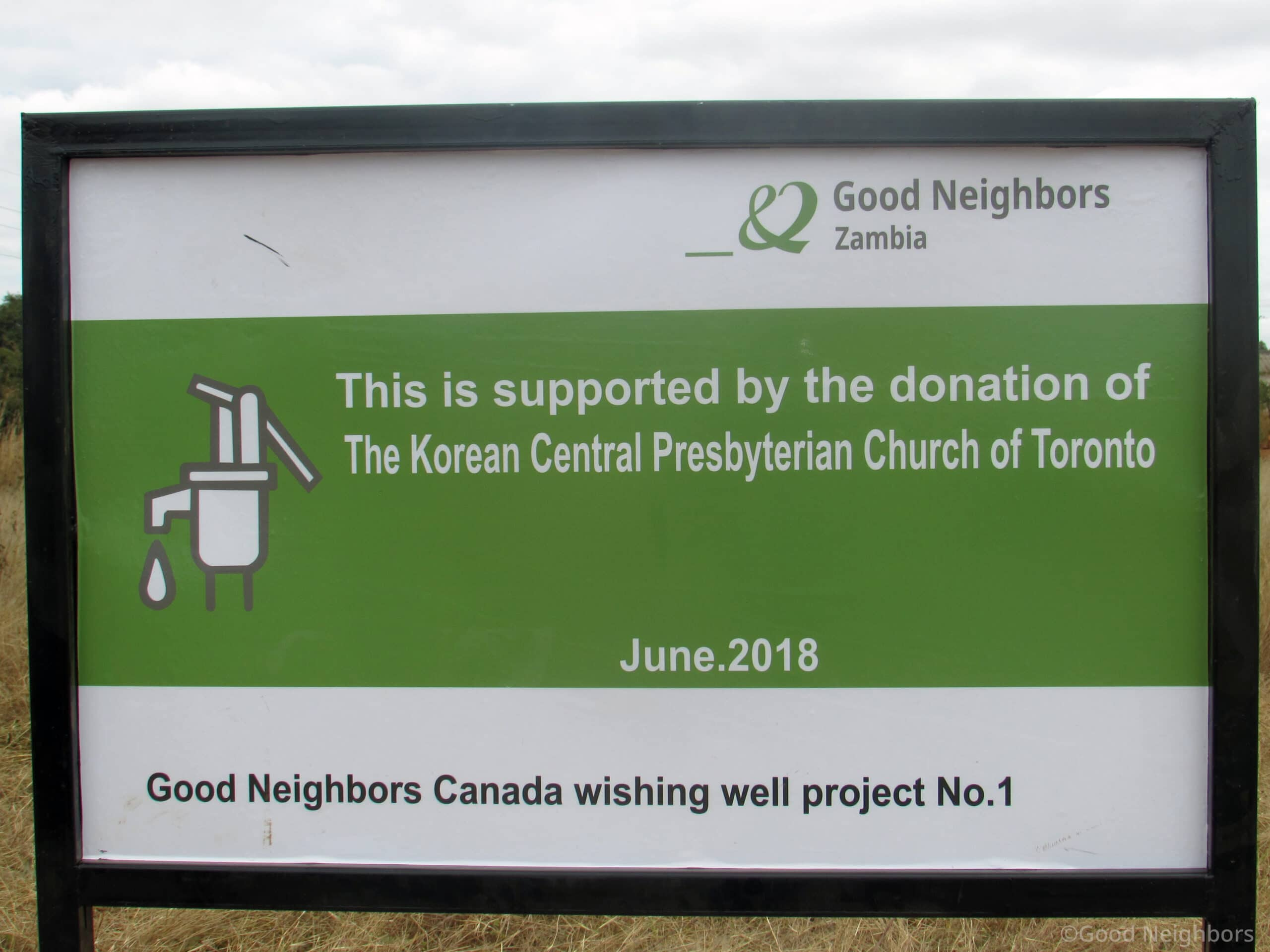 Good Neighbors Canada's first well was built last year