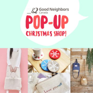 Pop-up store products at local Christmas markets