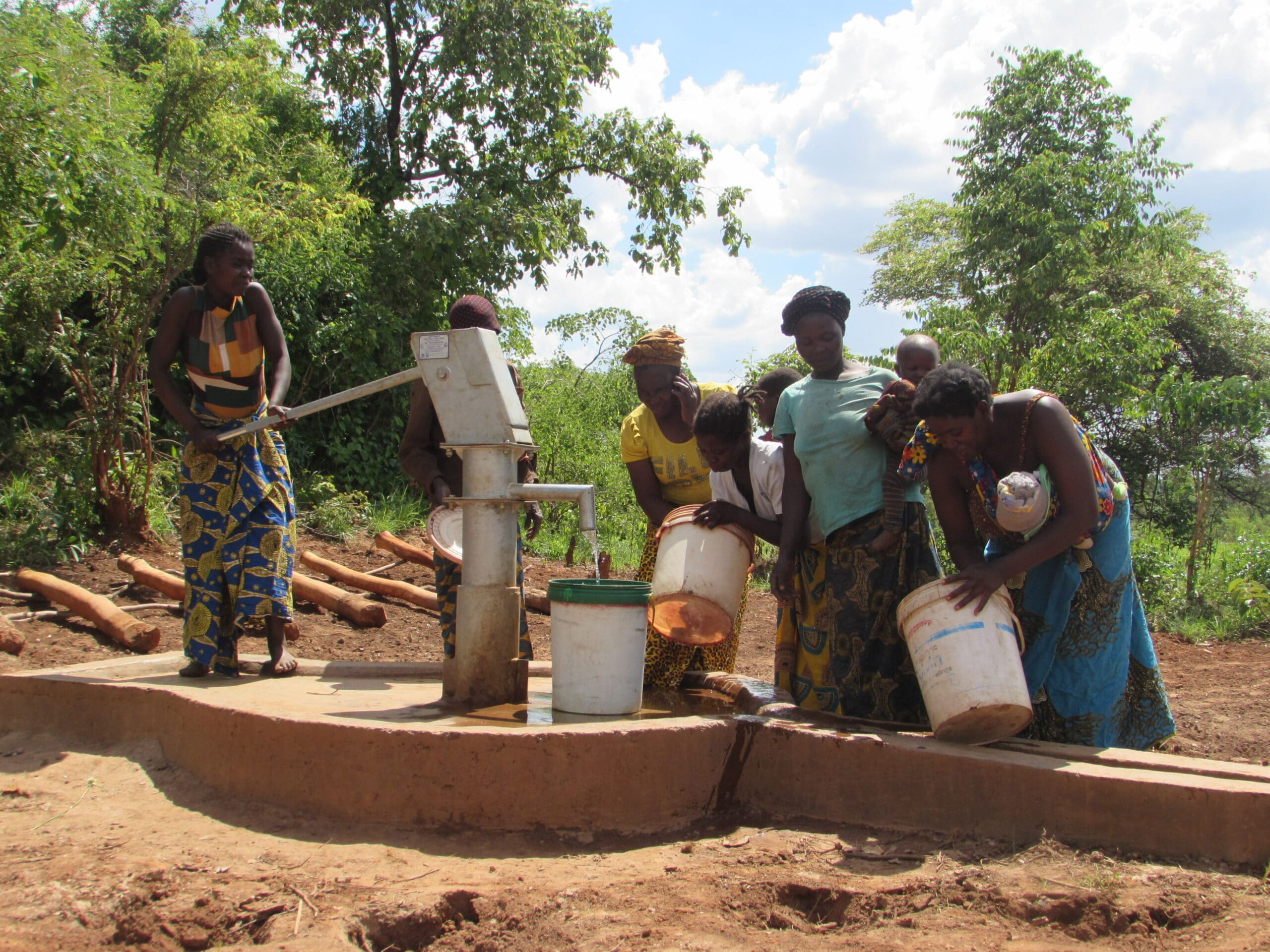 Canada Wishing Well Project No.3 Village using Borehole