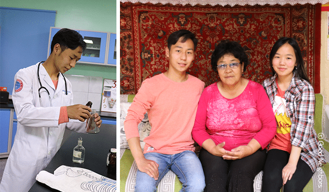Naran was sponsored for 8 years of his life by Jeong-won Min, who works as an obstetrician in Daejeon, South Korea. She now sponsors other children in Nepal.