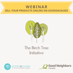 Webinar sell at Goods4Causes