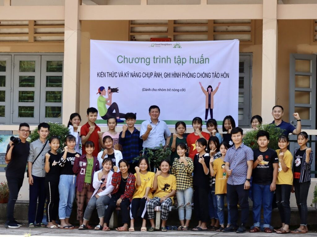 child marriage prevention group in Vietnam