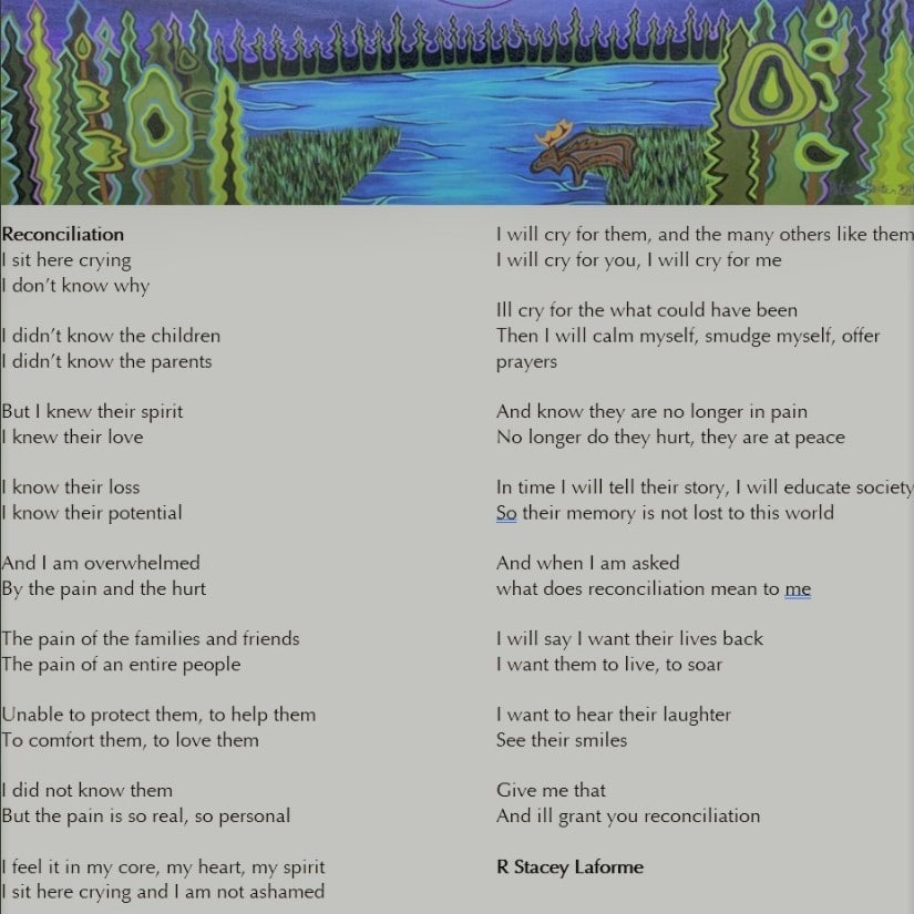 poem by Chief Stacey Laforme