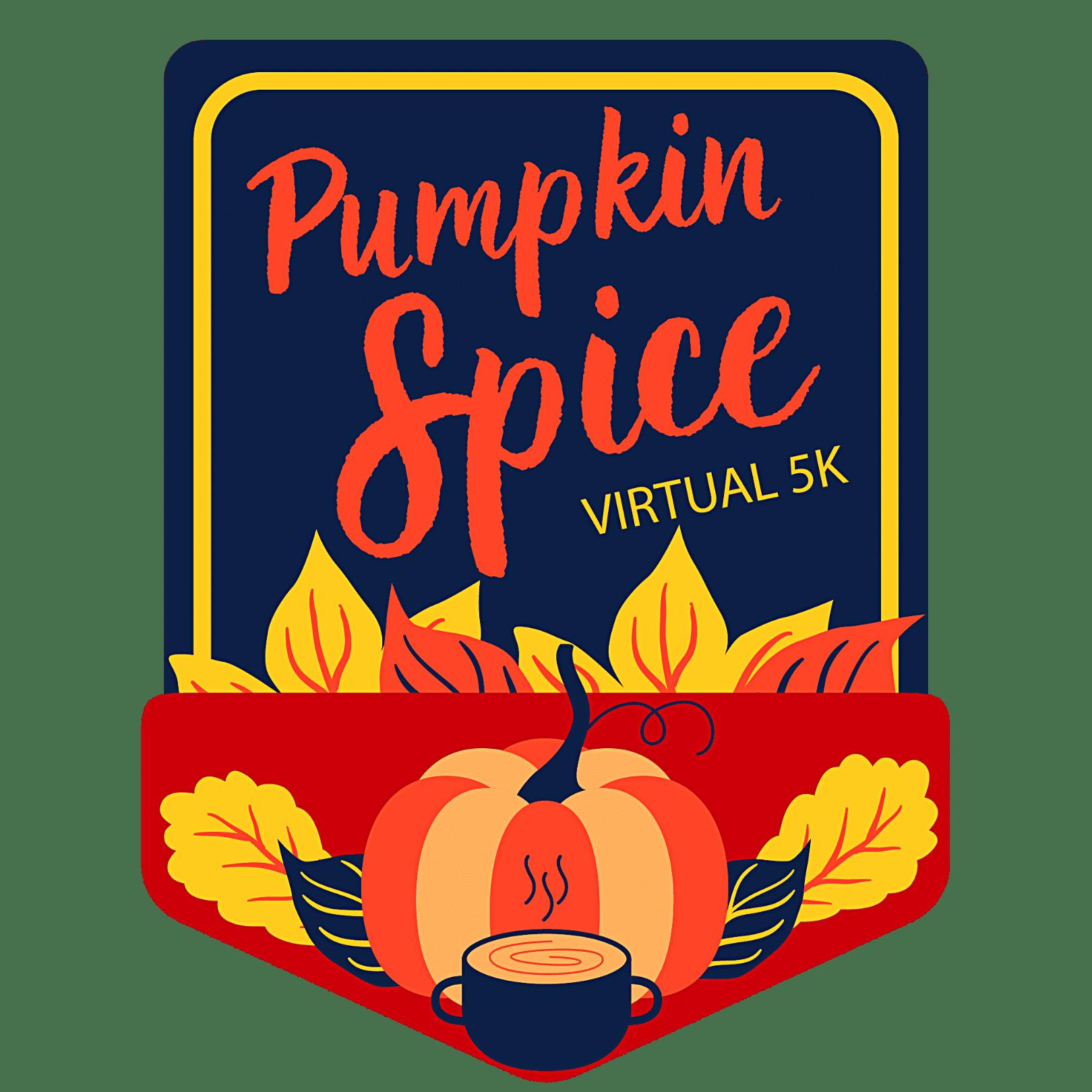 Pumpkin Spice Virtual 5K logo
