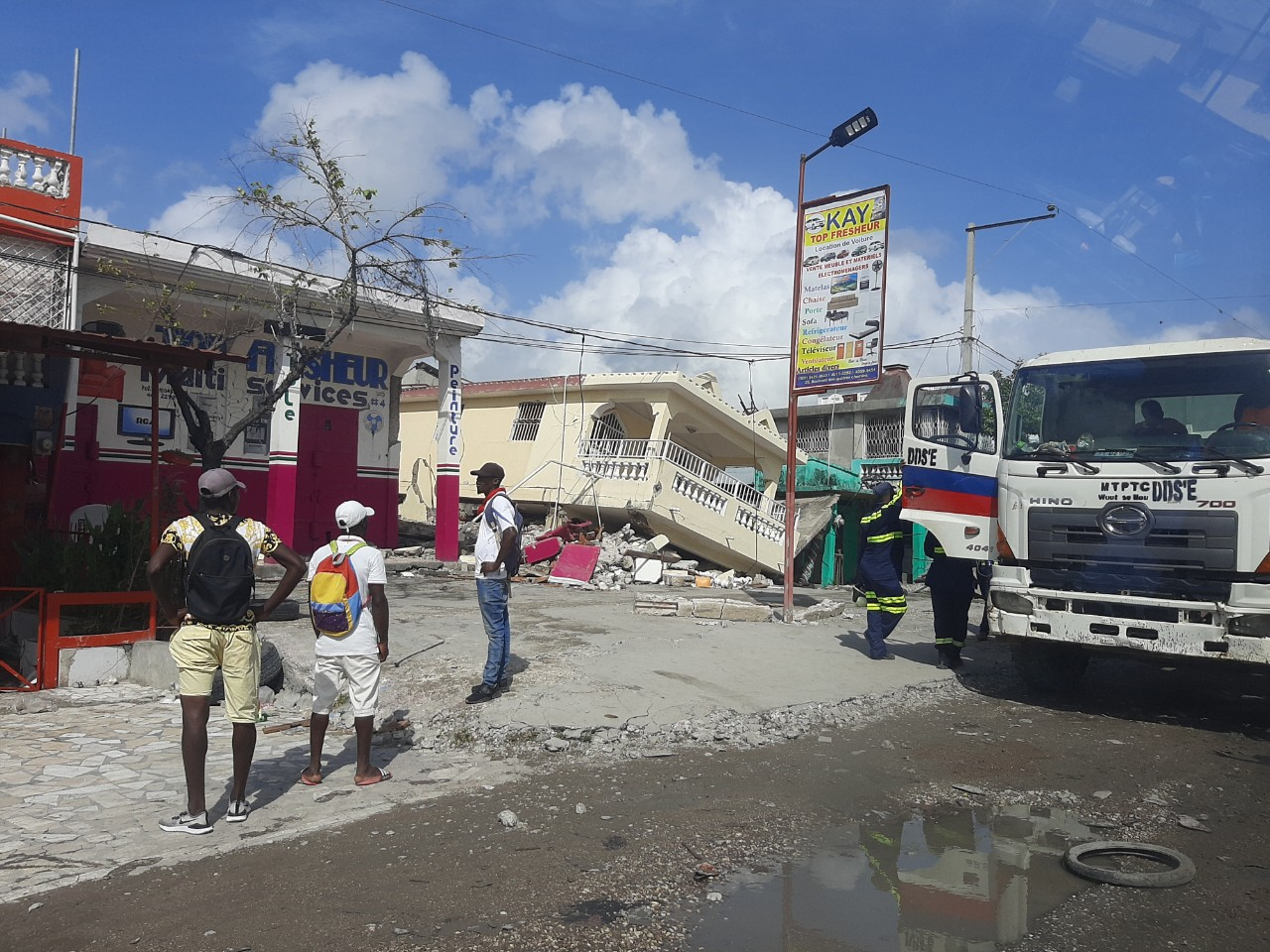 Destruction in Haiti