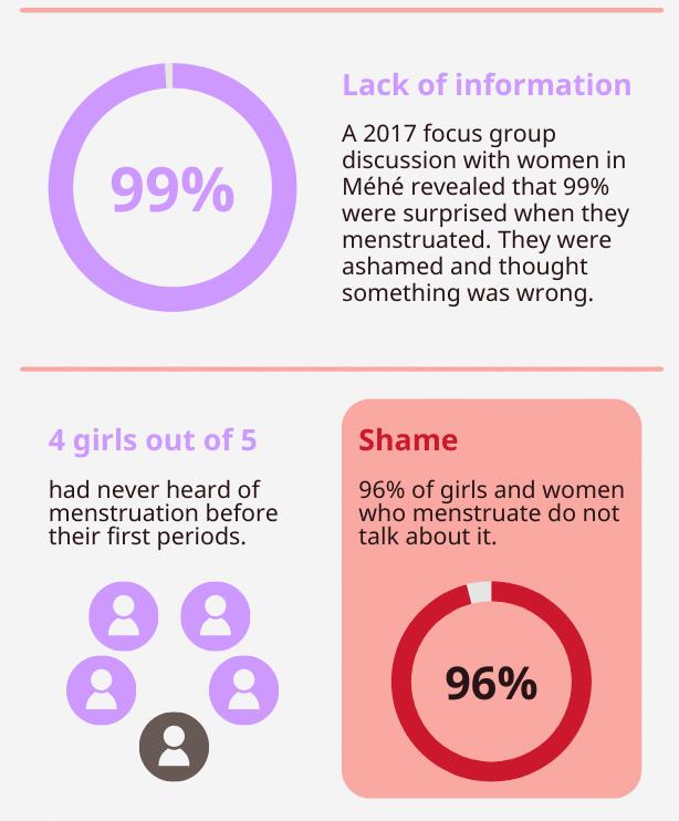 Menstruation Infographic Cameroon