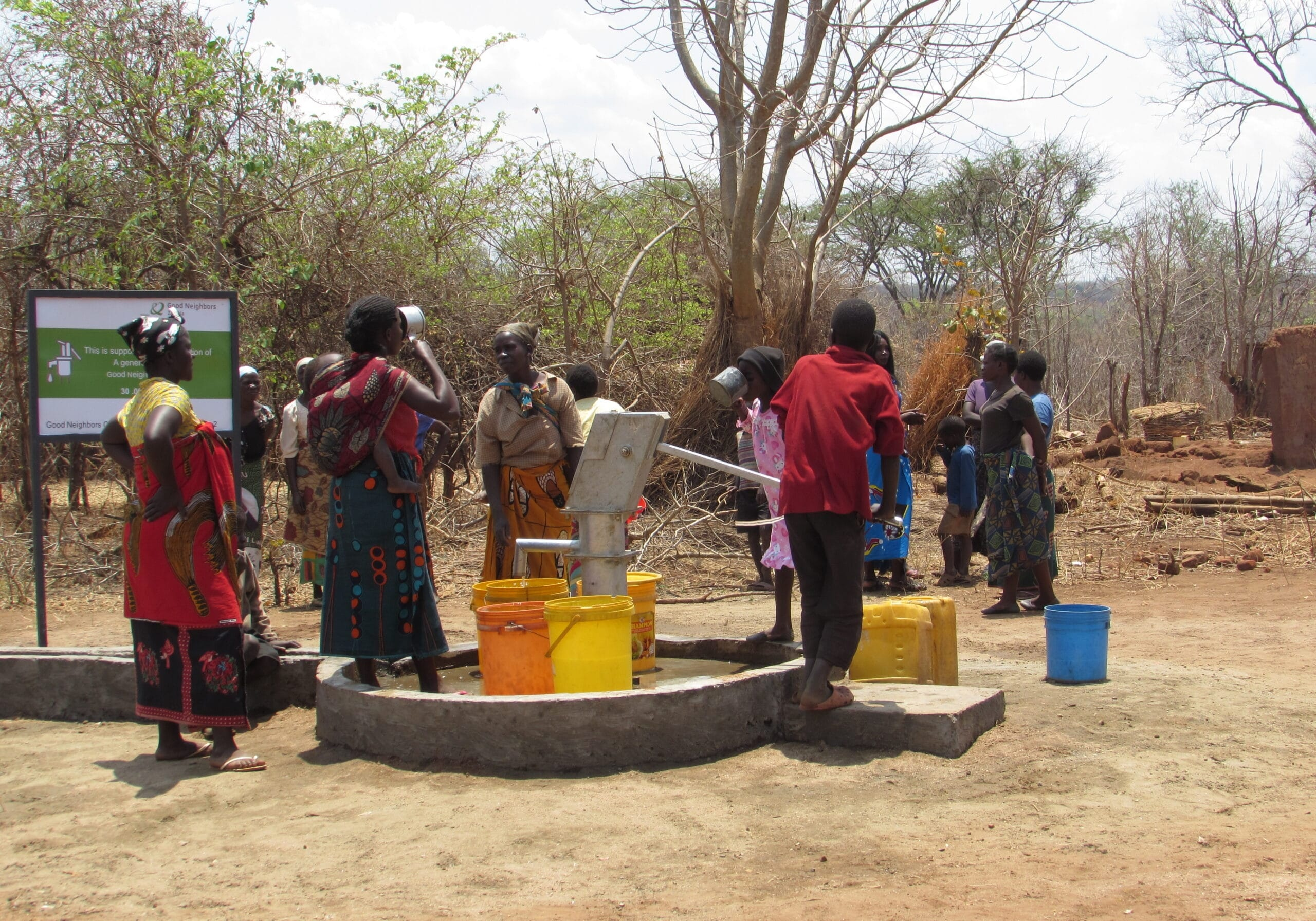 Canada Wishing Well Project No.2 community using the borehole