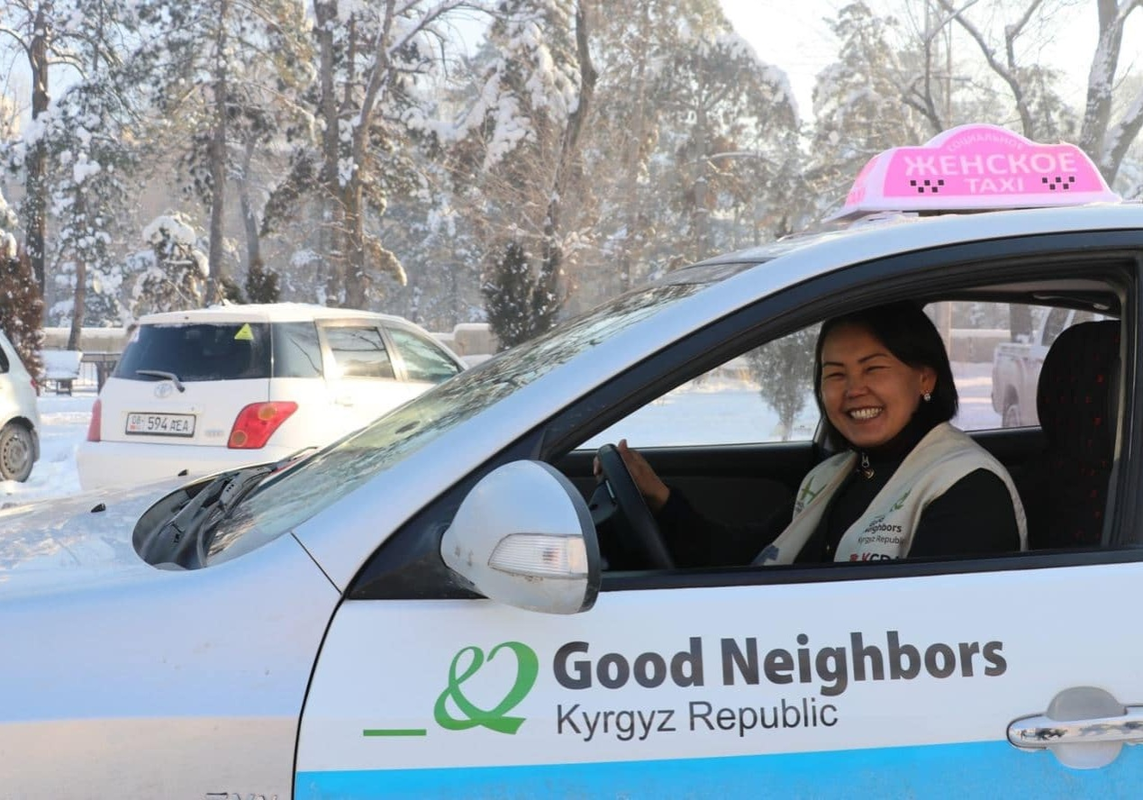 The Kyrgyz Republic Social Taxi Project: cars at affordable prices and driving training for vulnerable women