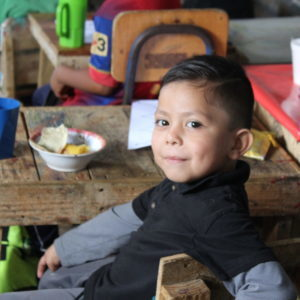 La Palangana's student, in El Cedro, Guatemala.