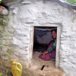 Bimala Bohora, an 18 year old living in a shed during her period, in Kolti VDC, Bajura, Nepal.